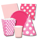Pink and White Party Supplies