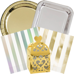Gold and Silver Party Supplies