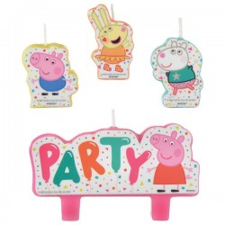 2pcs PEPPA PIG /'Confetti Party/' DOUBLE BANNER KIT ~ Birthday Party Decorations