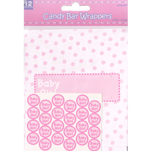Baby Shower Baby Girl Candy Bar Wrapper Kit 1ct