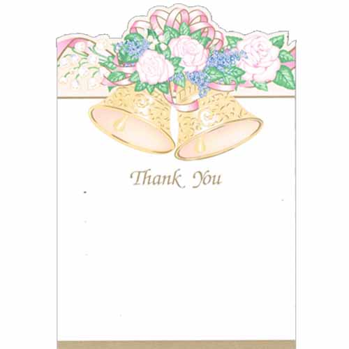 Bridal Shower 39 Bells Of Love 39 Thank You Notes W Envelopes 8ct