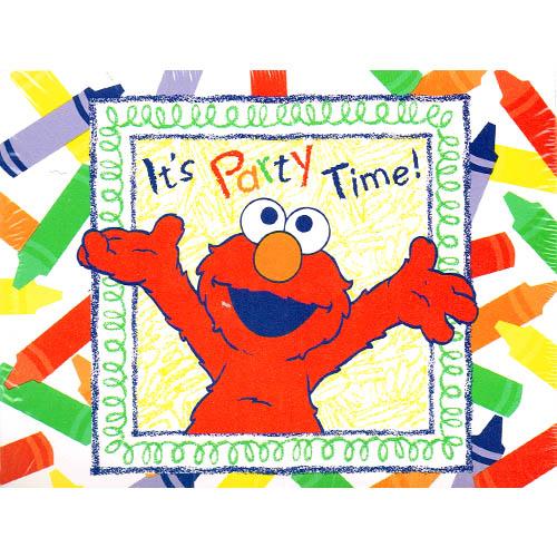 Sesame Street Elmo's World Invitations w/ Env. (8ct)