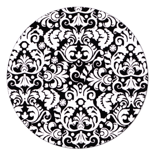 damask paper plates Elegant black white damask wedding paper plate - home gifts ideas decor special unique custom individual customized individualized.