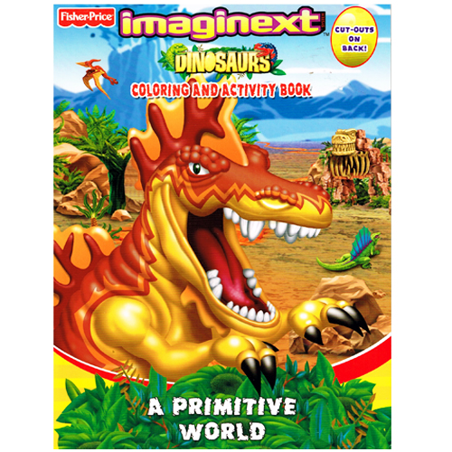 Fisher Price Imaginext Dinosaurs Coloring Book 1ct