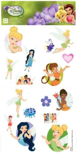 Tinker bell and the disney fairies temporary tattoos 1 sheet for Disney temporary tattoos