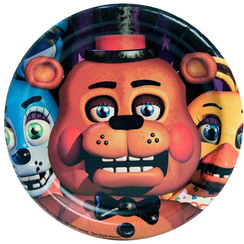 Five Nights At Freddy S Small Paper Plates 8ct