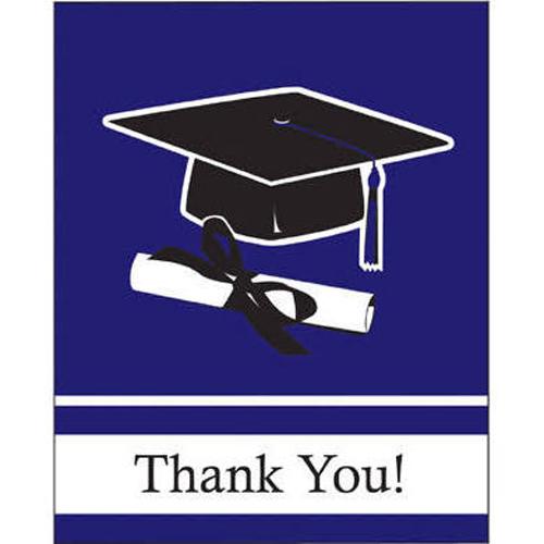 graduation purple school colors thank you notes w