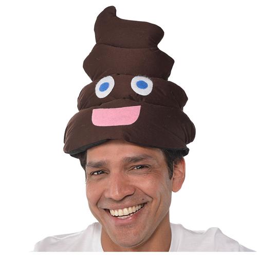 Halloween Poop Emoji Adult Plush Hat 1Ct-5233
