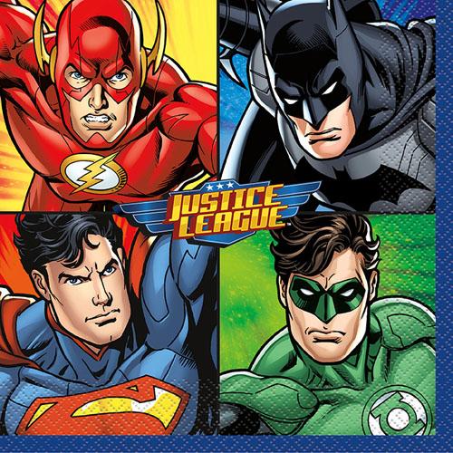 Justice League Lunch Napkins (16ct