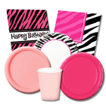 Pink and Black Party Supplies
