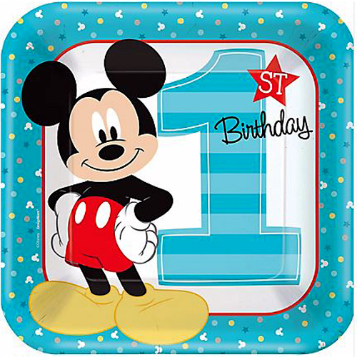 Mickey Mouse 1st Birthday 'Fun To Be One' Large Paper