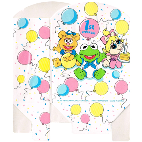 Muppets Babies Vintage 1985 1st Birthday Favor Boxes 8ct