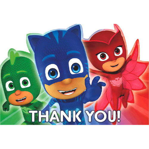 PJ Masks Thank You Note Set w/ Envelopes (8ct)