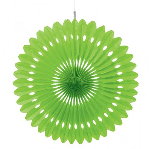 Kiwi green large 16 decorative crepe paper fan 1ct for Decoration kiwi