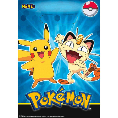 Pokemon 'Pikachu and Friends' Favor Bags (8ct)