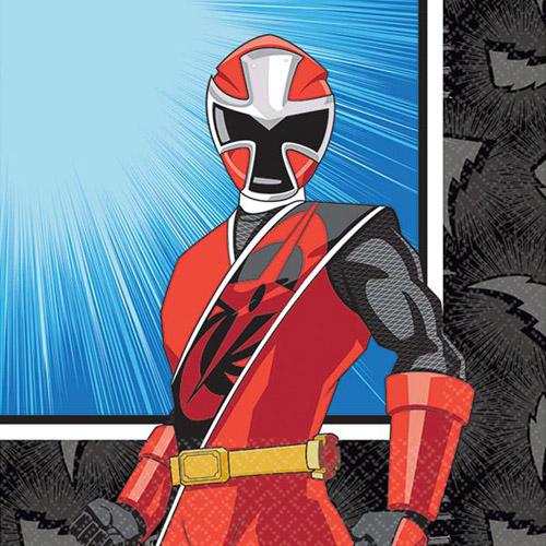power rangers 'ninja steel' small napkins 16ct