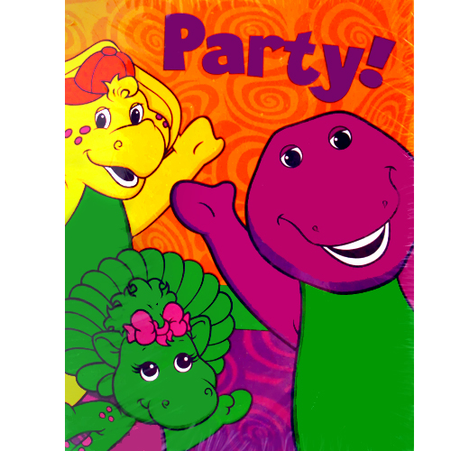Barney And Friends Vintage 2002 Invitations And Thank You