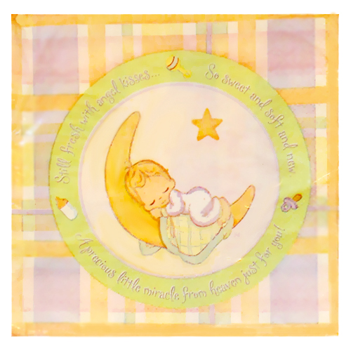 Precious Moments Baby Shower Party Supplies: Precious Moments 'Baby Moments' Lunch Napkins (16ct