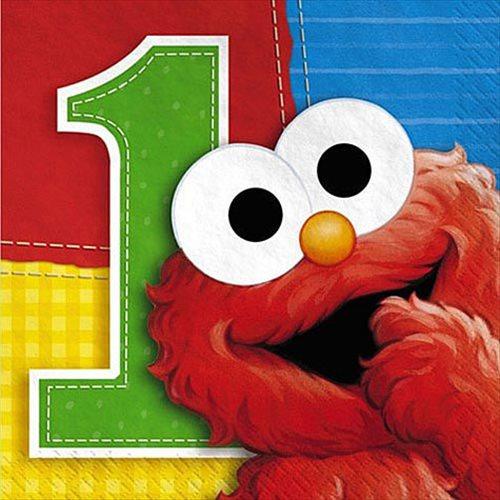 Sesame Street 1st Birthday Small Napkins (16ct