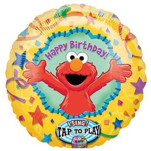 Sesame Street Happy Birthday Elmo Singing Foil Mylar