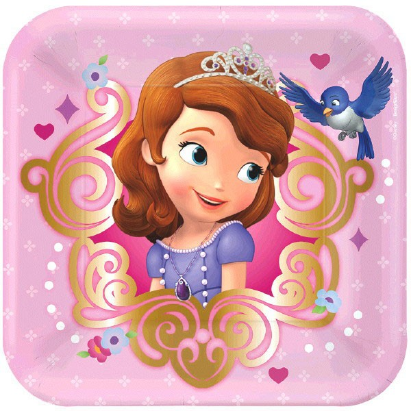 Sofia The First Small Pink Paper Plates 8ct