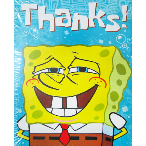 spongebob squarepants 'wonderful time' thank you notes w