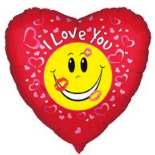 "Valentine's 18"" Heart Foil Helium Balloon Tasmanian Devil Taz Loony Tunes"